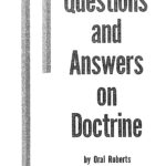 QUESTIONS AND ANSWERS ON DOCTRINE